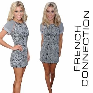 French Connection Grey Animal Instinct Dress 2